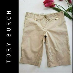Tory Burch Women Stretch Bermuda Short Sz  2 khaki
